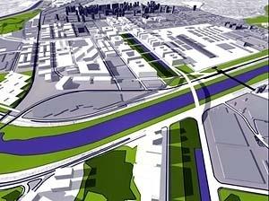 PRIOU – Plano-Referência de Intervenção e Ordenação Urbanística. Operação Urbana Vila Leopoldina: vista de conjunto