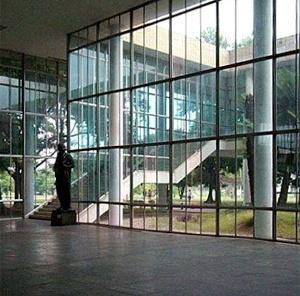 Faculdade de Arquitetura e Urbanismo da Universidade Federal do Rio de Janeiro – FAU-UFRJ, Rio de Janeiro. Arquiteto Jorge Machado Moreira <br />Foto AG