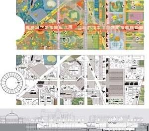 Concurso para reurbanização de Le Halles, Paris. Projeto de MVRDV / Winy Maas [Projet Les Halles]