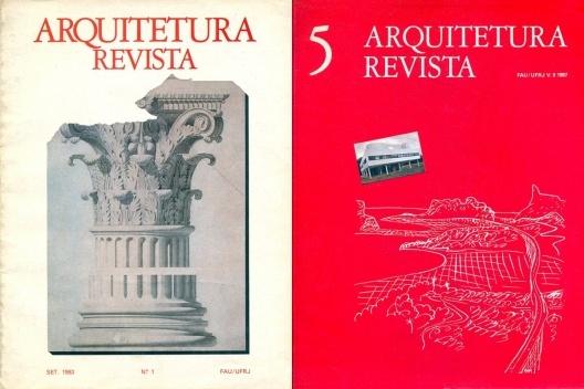 """Capas dos números 1 e 5 da revista """"Arquitetura Revista"""", criada e editada por Jorge Czajkowski de 1983 a 1990<br />Foto divulgação  [CAU SMU PCRJ]"""