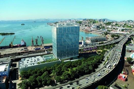 Port Corporate Tower, prédio da Tishman Speyer. Porto Maravilha, Rio de Janeiro<br />Foto divulgação  [Acervo Tishman Speyer]