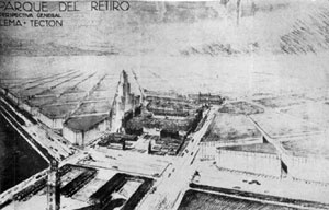 Proyecto para el Parque del Retiro, Buenos Aires, 1935