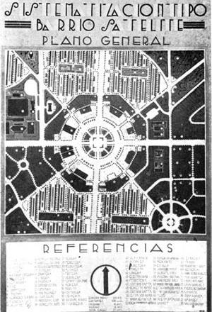 Projeto de bairro satélite para Rosário de Ángel Guido, 1935