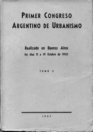 Portada del Congreso Argentino de Urbanismo, Buenos Aires, 1935  [Colección CEDODAL]