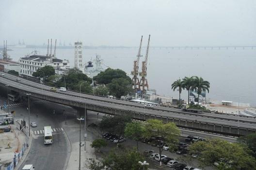 Elevado Perimetral, área central do Rio de Janeiro, 2013<br />Foto Tânia Rego  [Agência Brasil / Empresa Brasil de Comunicação]