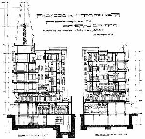 Corte, projeto do arquiteto Gianotti, ano 1914