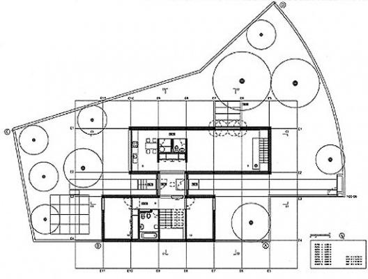 Casa Milhundos, planta do pavimento térreo