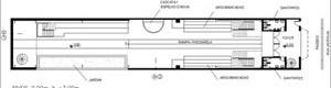 Teatro Oficina, planta níveis 0.00m e -3.00m do projeto de Lina e Elito [Escritório Arquiteto Edson Elito]