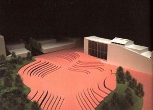 Teatro-Estádio, maquete de acordo com o projeto de João Batista Martinez Corrêa [Programa da peça Os Sertões: A terra]