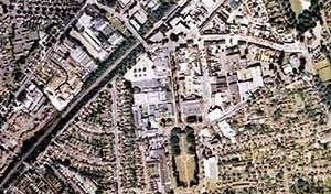 Vista aérea Letchworth, a primeira Cidade-Jardim [www.letchworthgardencity.net]