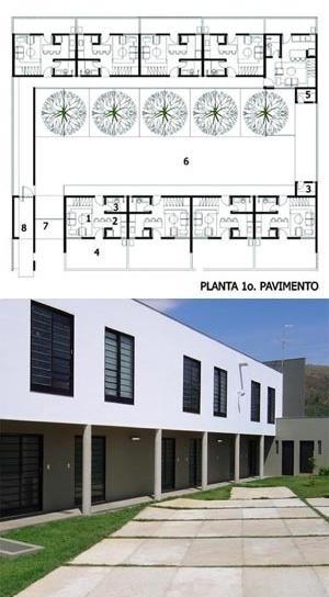 Barcelona (acima) e Ipê (abaixo), Sete Lagoas MG. Arquitetos Carlos Alberto Maciel<br />Planta e foto Carlos Alberto Maciel