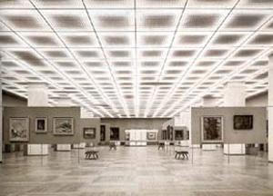 Pinacoteca da primeira sede do Masp, na Rua 7 de Abril