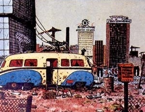 JANO/TRAMBER (desenho/texto) Kébra: Fait comme un rat, 1982. Humanóides associes