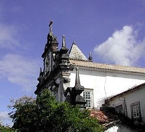 Vista oblíqua da igreja franciscana de Cairu<br />Foto do autor