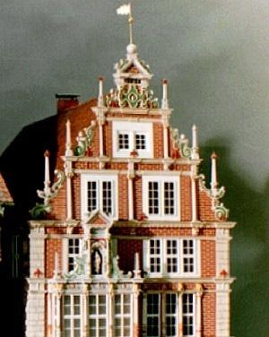 Maquete da Leisthaus, Hameln, Alemanha<br />Foto de Modellbau Birmann
