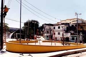 Praça Carlos Seidl, Ladeira dos Funcionários, Caju, Rio de Janeiro. Projeto Fábrica Arquitetura