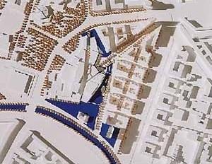 Desenho urbano de Potsdamer Platz, Berlim. Arquiteto Renzo Piano