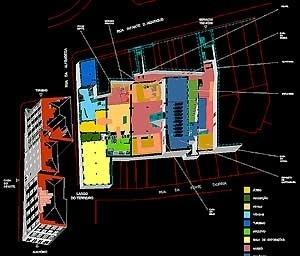 Planta piso 0. <br />Desenho de N.J. Tasso de Sousa