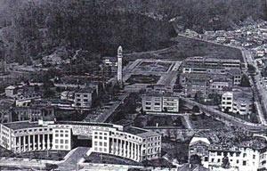 Fig. 2 - Universidade de Concepción e seu Campanário, aproximadamente em 1957