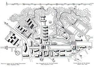 Fig. 3 - Plano Regulador de Emilio Duhart, 1958. Fundo Emilio Duhart Centro de Informação e Documentação Sergio Larraín García-Moreno [Diseño y Estudios Urbanos. Pontificia Universidad Católica de Chile]