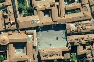 Fig. 10 - Piazza della Santissima Annunziata, Florencia. Diciembre de 2008 [Google Earth]
