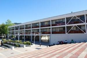 Fig. 20 - Edificios de Química. Metalurgica e Ingeniería Civil. 1965 -1967<br />Foto Verónica Esparza S. Outubro 2008