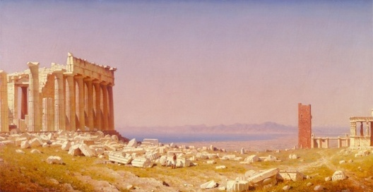 As ruínas do Parthenon, óleo sobre tela, Sanford Robinson Gifford, 1880