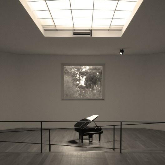 Sala de exposição central, Museu de Serralves, Porto<br />Foto Ney Zillmer Neto