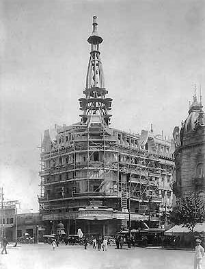 Edifício do Moinho em obras, 1915