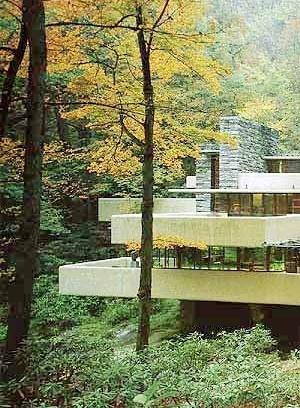 Casa Kaufmann, arq Frank Lloyd Wright [As casas do século, Anatxu Zabalbeascoa, Editorial Blau]