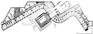 Figura 07 – Alvar Aalto, Residência Baker, 1949. O desenho do edifício está relacionado com os elementos adjacentes existentes [Alvar Aalto 1922-1962, Zurich, 3ª ed., 1970, p. 134]