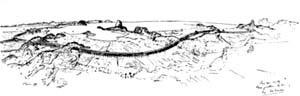 Figura 08 – Le Corbusier, Edifício auto-estrada, Rio de Janeiro, 1929. Um único grande bloco que se bifurca compõe o espaço [Le Corbusier – Suite de l´oeuvre complete 1929 – 1934, Zurich, 10ª ed., 1984, p. 138]