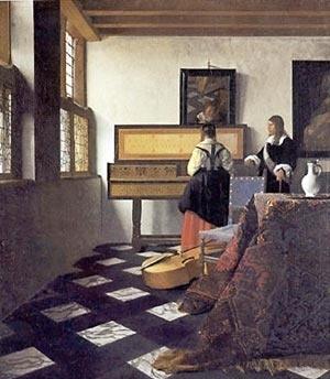 VERMEER - Lição de Música (1662-65) [http://www.essentialvermeer.com Acesso: 15 outubro 2007]