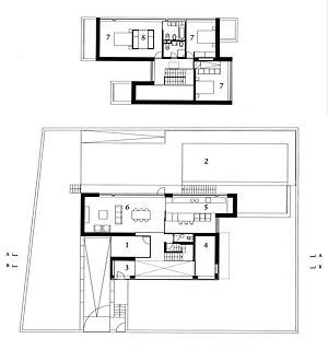 Planta dos pisos 2 e 1 [Opúsculo, nº5, Dafne, Porto, 2007]