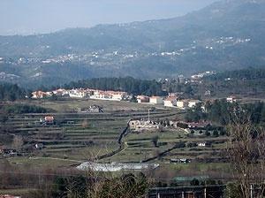 A freguesia de Vila Marim observada da cidade Vila Real (Norte de Portugal)<br />Foto do autor