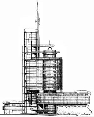 Complexo de Escritórios e Telecomunicações WestWorld II, na periferia Norte de Londres - The Halpern Partnership, 1989
