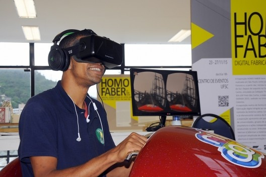 XIX Sigradi Florianópolis 2015, montanha russa em realidade virtual nos intervalos<br />Foto divulgação