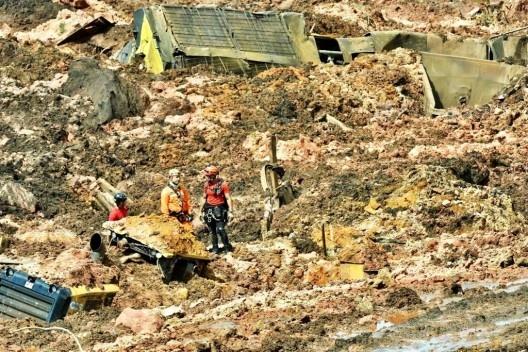 Imagem aérea do desastre ambiental de Brumadinho<br />Foto divulgação  [Corpo de Bombeiros de Minas Gerais]