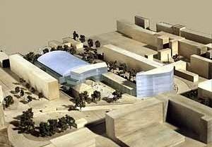 Centro de Esportes e Lazer em Magdeburgo, Alemanha. NGM Architekten (Nedelykov Granz Moreira), 1996-97
