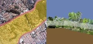 Rede. O local e o metropolitano, e a rede atravessando a extensão do parque