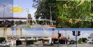 Rede. A rede atravessando a Raposo Tavares, o parque e a Eliseu de Almeida