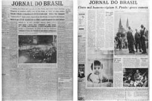 Jornal do Brasil, 28/06/1957 (à esquerda) e 02/12/1959 (à direita): antes e depois da reforma