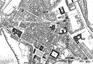 Planta do centro da cidade de São Paulo, 1881 [Levantamento realizado pela Companhia Cantareira de Esgôtos, Henry B.Joyner]