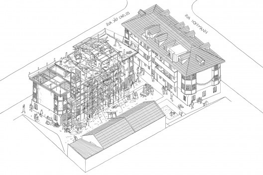 Vila Flores em construção [Acervo Goma Oficina]