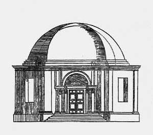 6. Elevação de templo hexagonal preconizada por Serlio [5º Livro de Serlio]