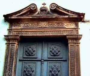 9. Trecho das portadas da antiga igreja jesuíta recifense<br />Foto do autor