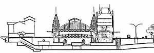 2.3. Vista da seção transversal da estação da Luz: modernização funcional Fonte: CPTM, 2001