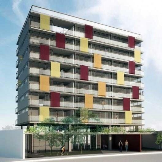 Edifício P.O.P. Madalena, São Paulo. Escritório Andrade & Morettin<br />Imagem divulgação  [Website IdeaZarvos]