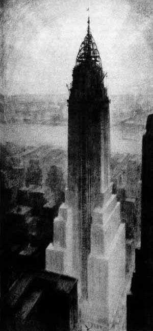 Chrysler Building [FERRISS, Hugh. La Métropole du futur. Paris, Centre Georges Pompidou, 1987]