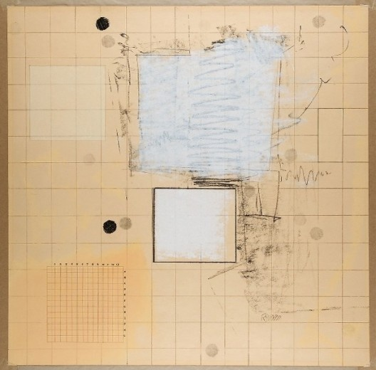 "Robert Ryman, ""Drawing with Numbers"", c.1963<br />Imagem divulgação  [Art Institute Chicago / Cortesia Pace Wildenstein]"